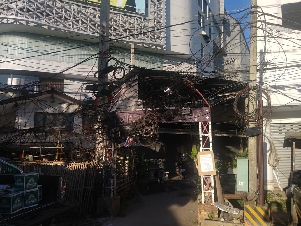 Why are cables in Thailand so messy?