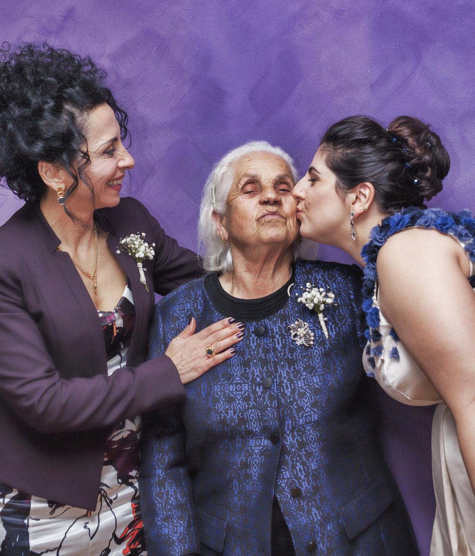 cheek kissing greeting