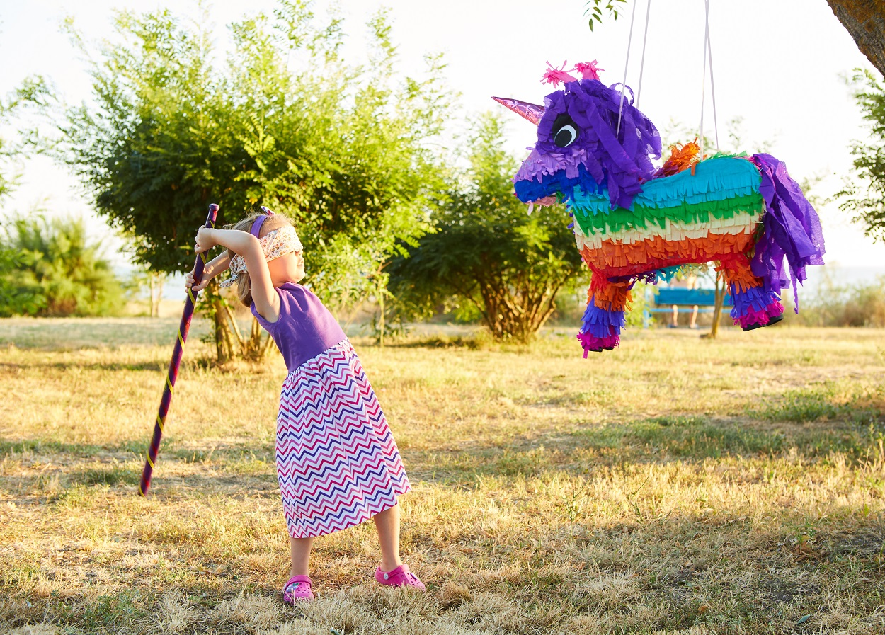 Where does the pinata come from?